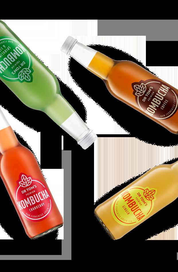 Dr Tom's Premium Kombucha Bottles